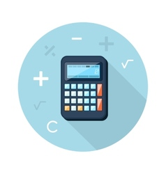 Calculator Flat Concept Icon vector image