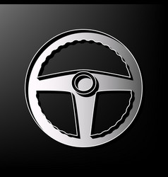 Car driver sign gray 3d printed icon on vector