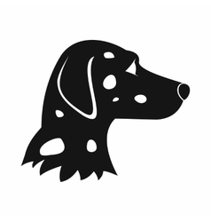 Dalmatians dog icon simple style vector