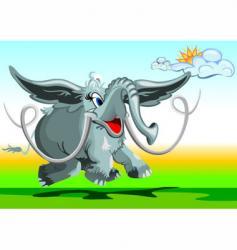flying elephant vector image vector image