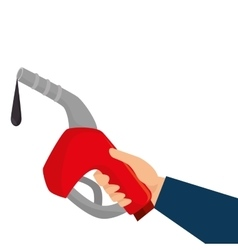 gasoline gun isolated icon vector image
