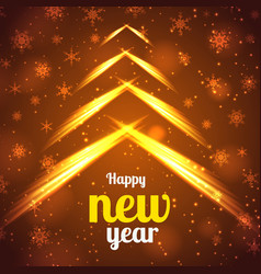 Happy new year bright poster vector