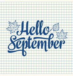 hello september text retail message best for sale vector image vector image