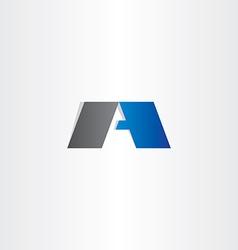 Letter a black blue logo logotype symbol vector
