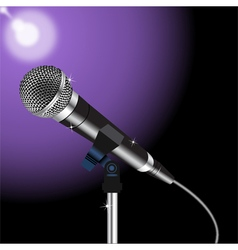 Microphone cord 3 vector