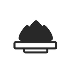 Monochrome japanese plate with wasabi icon on vector