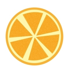 Orange fresh fruit isolated icon vector