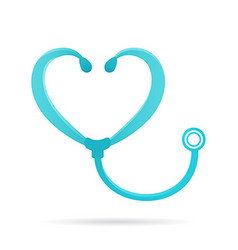 Phonendoscope logo sign medical icon vector image vector image