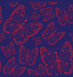 seamless abstract pattern background with flying vector image vector image