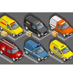 Set of vans vector image vector image