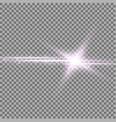Shining star with a stardust purple color vector