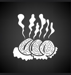 Smoking cutlet icon vector