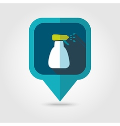 Spray bottle pulverizer sprayer pin map icon vector image vector image