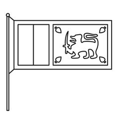 Sri Lanka flag icon outline style vector image