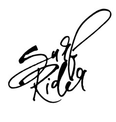 surf rider modern calligraphy hand lettering for vector image vector image