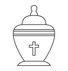 Urn icon outline style vector
