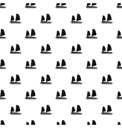 Vietnamese junk boat pattern simple style vector