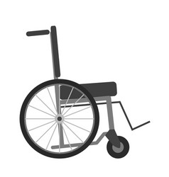 Wheelchair isolated on white background vector