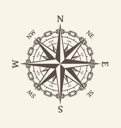 wind rose brown vector image