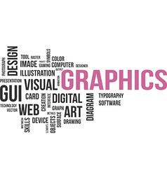 Word cloud graphics vector