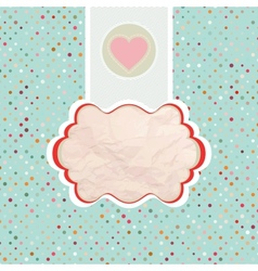 Valentines card template eps 8 vector
