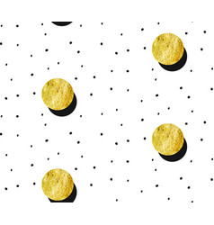seamless pattern with gold painted dots vector image