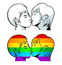 Gay kiss vector