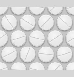 seamless texture realistic pills on gray vector image