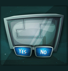 Space scifi sign for ui game vector