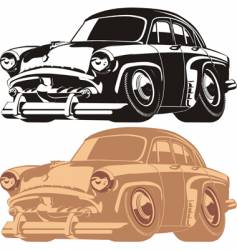 cartoon retro car vector image
