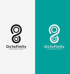 Octopus in an infinity shape vector