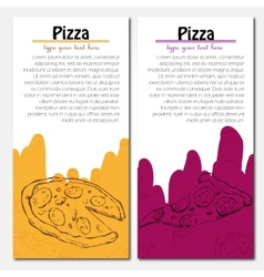 Fast food background pizza banners vector
