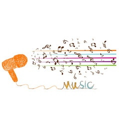 I love music doodle art with note vector