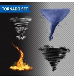 Realistic 3d tornado set vector