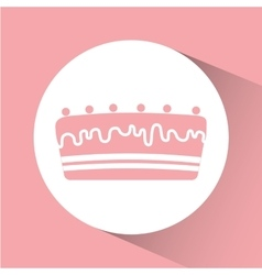 Birthday cake desserts vector