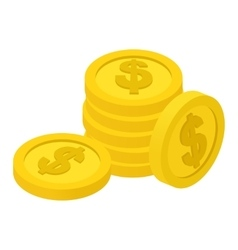 Coins isometric icon vector
