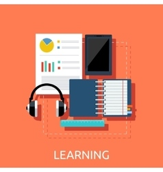 Education tools concept vector