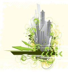 Urban city background vector