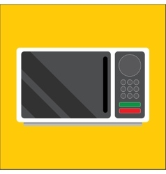 Modern microwave front view vector
