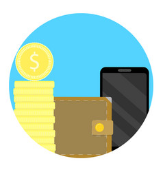 Balance finance icon on phone vector