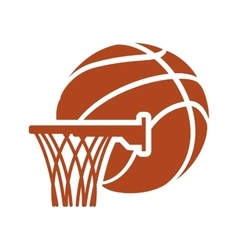 Basket ball and basketball design vector