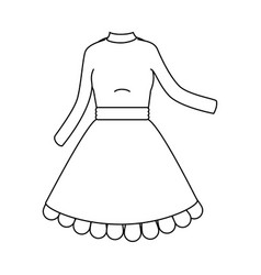 Beautiful dress icon vector