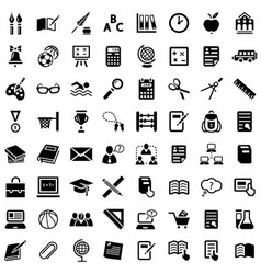 big school icon set vector image vector image