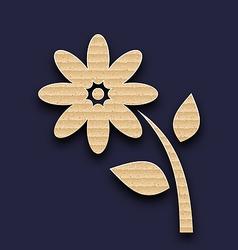 Carton paper flower handmade background vector