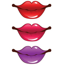 Cartoon lips vector