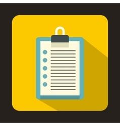 Clipboard checklist icon flat style vector image vector image