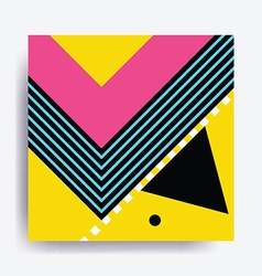 Colorful trend neo memphis geometric pattern vector