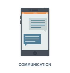 Communication concept design vector
