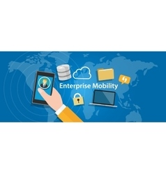Enterprise mobility connected everywhere company vector