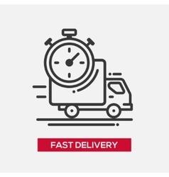 Fast delivery service single icon vector
